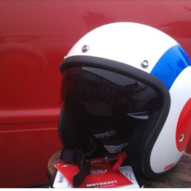 Open Face Target Helmet – With Visor