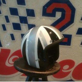 Open Face Helmet – Black & Silver Union Jack
